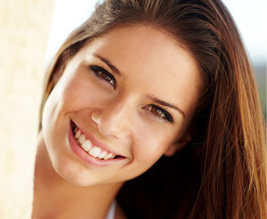 Cropped image of girl smiling