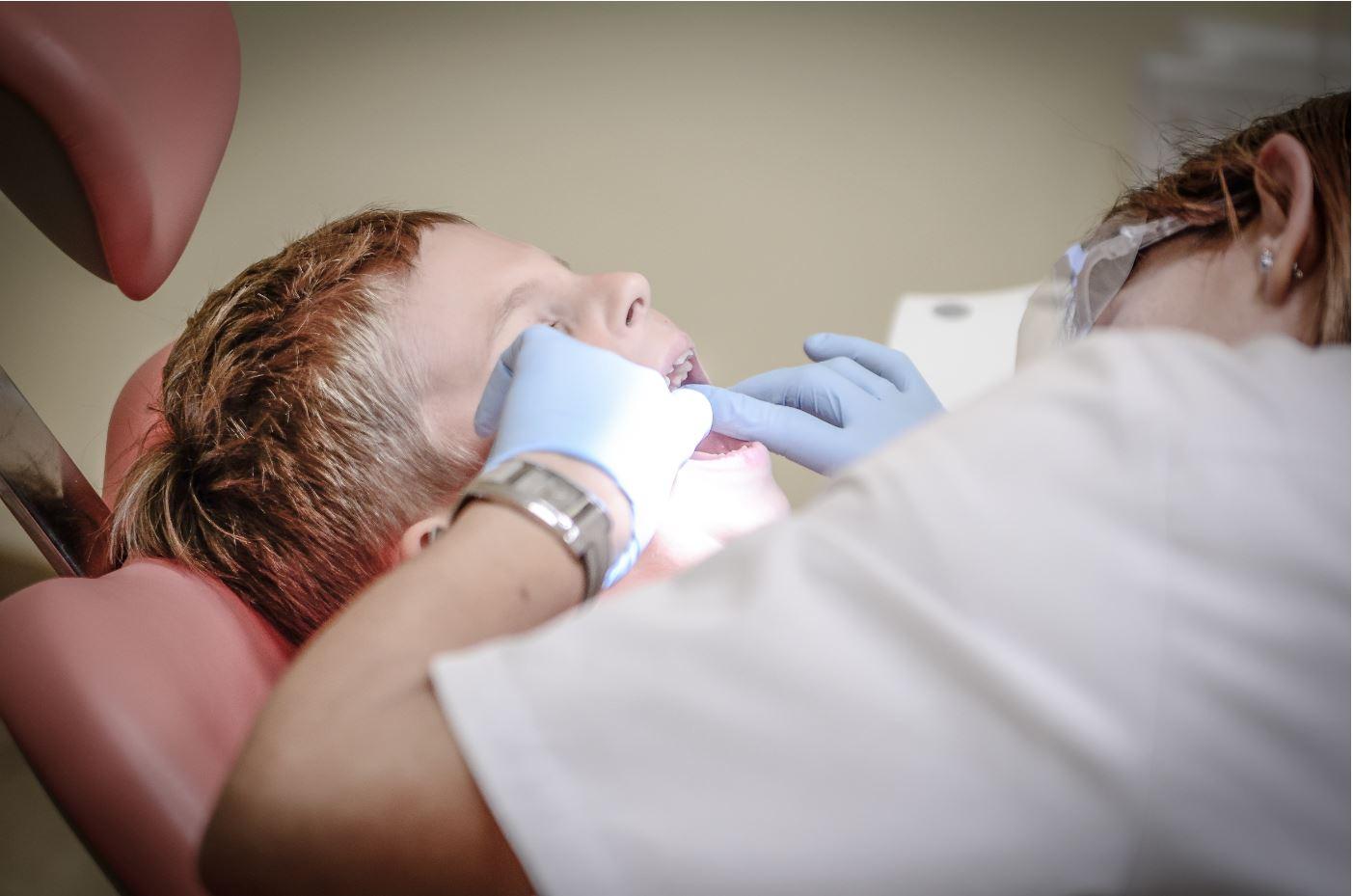 Boy Getting A Dental Check Up